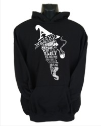 A Wizard Is Never Late Mens Hoodie Black (X-Large) - Cover