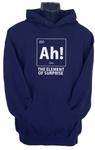Ah! the Element of Surprise Mens Hoodie Navy (Medium)
