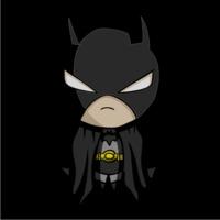 Baby Batman Womens Hoodie Black (Medium) - Cover