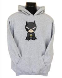 Baby Batman Womens Hoodie Grey (Medium) - Cover