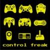 Control Freak Mens Hoodie Black (Large)