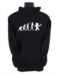 Minecraft Evolution Mens Hoodie Black (Small) - Cover