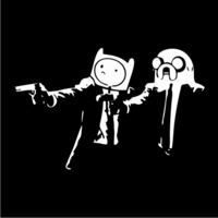 Pulp Fiction Adventure Mens Hoodie Black (Medium) - Cover