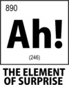 Ah! the Element of Surprise Womens T-Shirt White (Small)