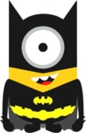 Batman Minion Womens T-Shirt White (X-Small)