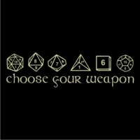 Choose Your Weapon Mens T-Shirt Black (Medium) - Cover