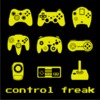 Control Freak Womens T-Shirt Black (X-Small)