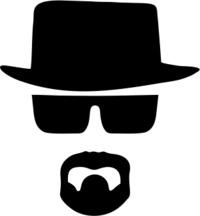 Heisenberg Mens T-Shirt White (X-Large) - Cover