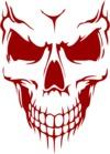 Scary Skull Face Mens T-Shirt White (XXXX-Large)