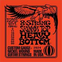 Ernie Ball 2624 9-80 Skinny Top Heavy Botttoms 8 String Electric Guitar Strings