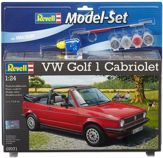 Revell - 1/24 - VW Golf 1 Cabrio Model Set (Plastic Model Kit)