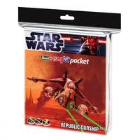 Revell - 1/172 - Star Wars Republic Gunship Easykit Pocket (Plastic Model Kit)