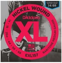 D'Addario EXL157 14-68 Nickel Wound Medium Baritone Electric Guitar Strings - Cover