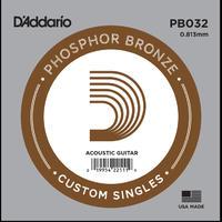 D'Addario PB032 .032 Phosphor Bronze Wound Single String
