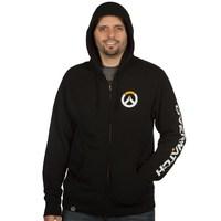 Overwatch Logo Men's Zip-Up Hoodie - Black (X-Large) - Cover