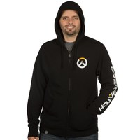 Overwatch Logo Men's Zip-Up Hoodie - Black (XXX-Large) - Cover