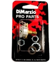 DiMarzio EP1201L 500K Long Shaft Custom Taper Potentiometer (Inc. Mounting Hardware)