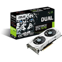 ASUS - White housing with Dual fan nVidia GeForce GTX 1070 8GB OC DDR5 Graphics Card