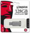Kingston Technology DataTraveler 50 - 128GB USB 3.0 (3.1 Gen 1) Type-A USB flash drive - Black/Silver