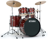 TAMA RM52KH6C-RDS Rhythm Mate 5pc Drum Kit with Hardware and Cymbals (22 10 12 16 14 Inch) - Cover
