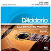 D'Addario EJ83L 10-44 Gypsy Jazz Silver Platted Light Ball End Acoustic Guitar Strings