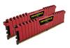 Corsair Vengeance LPX with Red low-profile heatsink 32GB (8GB x 4 kit) DDR4-3733 CL17 1.35v - 288pin Memory