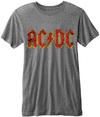 AC/DC -  Classic Logo Burnout Mens Grey T-Shirt (Medium) Cover