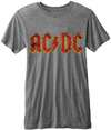 AC/DC - Classic Logo Burnout Mens Grey T-Shirt (X-Large)