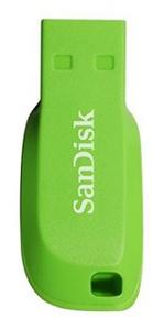 Sandisk Cruzer Blade 16GB USB 2.0 Flash Drive - Electric Green - Cover
