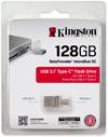 Kingston Technology - DataTraveler microDuo 3C 128GB USB 3.0 (3.1 Gen 1) Type-A/Type-C USB flash drive - Silver