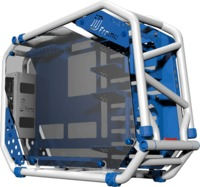 In Win - D-Frame 2.0 Open-Air Chassis - White/Blue - Cover