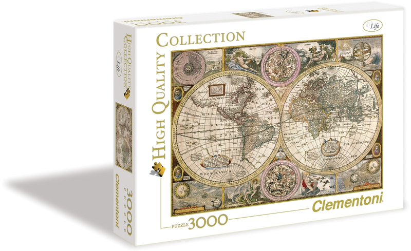 clementoni old map high quality collection puzzle 3000 pieces raru