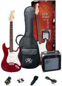 SX Electric Guitar Pack and Amp (Red) - Cover