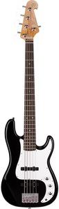 SX Precision 5 String Bass Guitar (Black) - Cover