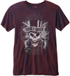 Guns N Roses – Faded Skull Mens Navy Red T-Shirt (XX-Large)