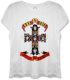 Guns N Roses  - Appetite Ladies Fitted White T-Shirt (Small)