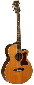 Tanglewood Sundance Pro Mini Jumbo Acoustic Electric Guitar (Natural)