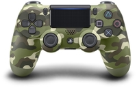 Sony - New DUALSHOCK 4 Wireless Controller V2 - Green Camouflage - Cover