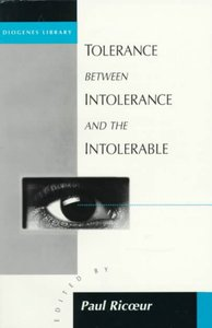 Tolerance between Intolerance and the Intolerable (Paperback) - Cover