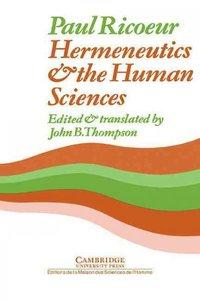 Hermeneutics and the Human Sciences - Paul Ricoeur (Paperback) - Cover