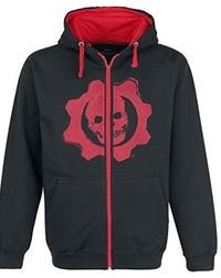 Gears of War 4 - Black & Red Omen Cut & Sew Hoodie (Medium) - Cover