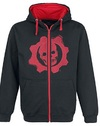 Gears of War 4 - Black & Red Omen Cut & Sew Hoodie (X-Large)