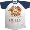 Queen Classic Crest Raglan Men's T-Shirt - Navy (Large) Cover