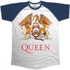 Queen Classic Crest Raglan Men's T-Shirt - Navy (Small) Cover