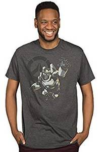 Overwatch Men's Winston: Humanity's Champion Premium T-Shirt - Charcoal Heather (X-Large) - Cover