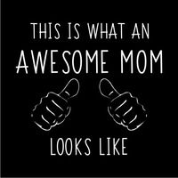 Awesome Mom Women's T-Shirt - Black (X-Large) - Cover