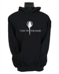 Talk to the Hand Women's Hoodie - Black (X-Large) - Cover