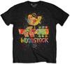 Woodstock Splatter Mens Black T-Shirt (Medium)