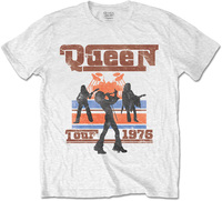 Queen 1976 Tour Silhouettes Mens White T-Shirt (Large) - Cover
