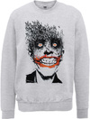 DC Comics Batman Joker Face of Bats Mens Sweatshirt (X-Large)